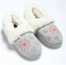 Slippers With Soul Memory Foam Footbed Ladies Fluffy Moccasin Slippers