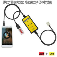 1pc Car MP3 Player Radio Interface Aux USB Adapter Cable For Toyota Camry 6+6pin