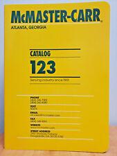 McMaster Carr Catalog 123 - Brand New