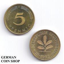 VORZÜGLICH BRD 5 Pfennig 1950 1966 1967 1968 1969 1970 1971 1972 1974 A D F G J