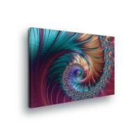 100cm W x 75cm H Framed Single Canvas Wall Art Picture Print Abstract Swirl New