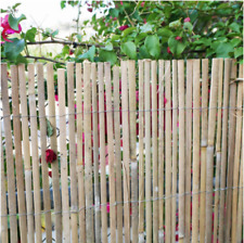 Backyard X Scapes Split Bamboo Fencing Garden Privacy Slat 6x16 Natural Brown
