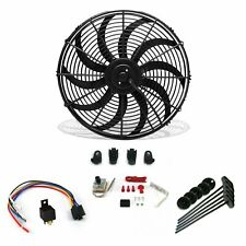 "Super Cool Pack 16"" S Blade Fan, Adj Temp Switch, Harness, & Brackets zirgo rat"