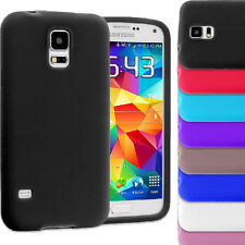 Plain Soft Silicone Rubber Gel Skin Case Cover for Samsung Galaxy S5 MINI G800