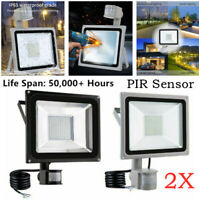 2X 30W PIR Motion Sensor Flood Light Outdoor Waterproof LED Lights Security Lamp