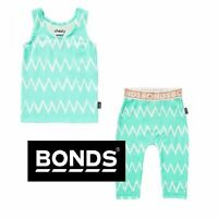 BONDS BABY STRETCHIES LEGGINGS PANTS TANK TOP GREEN WHITE TURQUOISE SILVER GOLD