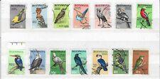 1967 BOTSWANA BIRDS DEFINITIVE SET FINE USED ***