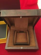 ORIGINAL NEW BREITLING BURL WOOD  WATCH PRESENTATION BOX AUTHENTIC  FOR WATCHES