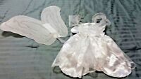 White Fairy Costume With Sparkle Wings Girls RUBIES Fairy Costume Size Small