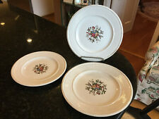 """Wedgwood Edme """"Conway"""" (2)- 9 1/8"""" Round Luncheon Plates + (1)- 8"""" Salad Plate"""