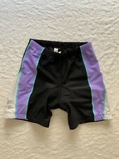 Tyr Women's Spin Cycling shorts with pad, Drimax, grey/white/purple, size S