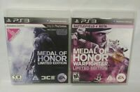 Medal of Honor LE + MOH Warfighter LE - Game Lot PS3 Sony Playstation 3 Tested