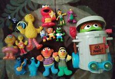 sesame street toy lot oscar big bird bert ernie Elmo 15pc lot