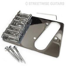 Guitar Bridge For Telecaster, Vintage Saddles, Chrome String through top or body