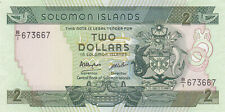 2 DOLLARS UNC BANKNOTE FROM SOLOMON ISLANDS 1986 PICK-13