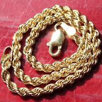 """10k 417 yellow gold bracelet 7.0"""" rope chain vintage handmade 1.4gr"""