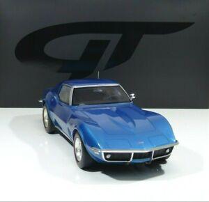 Chevrolet Corvette C3 Year 1968 Le Mans Blue 1:12 GT255 GT Spirit