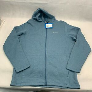 Columbia Mens Horseshoe Ridge EXS Full Zip Hoodie Jacket Large Blue Teal NWT $80
