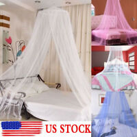 Mosquito Net Round Dome Lace Curtain Insect Bed Canopy Netting Princess Princess