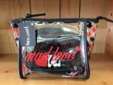 Harley Quinn Mad Love 3 Piece Cosmetic Gift Set Toiletry Make Up Bag & Brush Set
