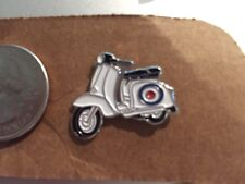 Retro White Scooter The Who Target Vespa Lambretta Lapel Pin Free Ship in USA