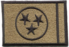 """Tennessee Army OCP Multicam Subdued Embroidered Flag Patch 3"""" x 2"""" Sew On"""