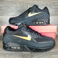 NikeAir Max 90 Essential 'Black Gold' Sneakers (AV7894-001) Men's Sizes
