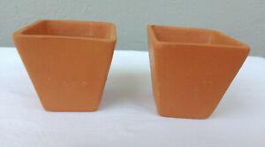 4Pcs Clay Flower Pot Square Terracotta Succulent Cactus Plant Indoor Ceylon Eco