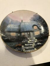 knowles collector plates Thomas Kinkade's Candlelit Cottage 1991 Plate #6251A