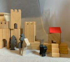 Wooden Castle German Made Architectural Wood Blocks Building STEM Classic Toy