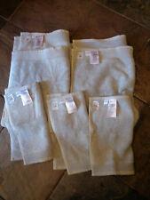 5 West Elm Luxe Fibrosoft Gray Sky Hand Towels (2) + Washcloths (3) New