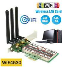 450Mbps WiFi PCI-E Network Card Wireless Gigabit LAN Adapter+3 Antennas 2.4G/5G