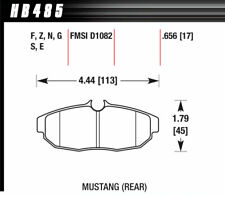 Hawk Performance HB485N.656 : Brake Pads, HP Plus, Rear, Ford, Set