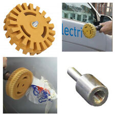Vinyl Decal Remover Tool Rubber Polishing Wheel Car Sticker Mark Eraser +Adaptor
