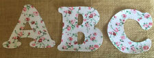 Pink & Red Floral Iron On Letters & Numbers #1