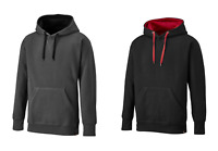Dickies Two Tone Hooded Pullover Black / Red or Grey SH3007