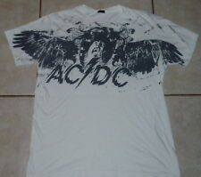 New listing Ac/Dc T Shirt (L / M) Mens Large / Medium White Malcolm Young guns n roses kiss