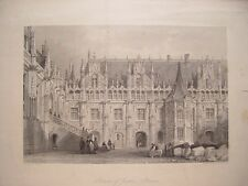 France. «Palace of Justice-Rouen» Dessin Thomas Allom. Gravure W.H.Capone