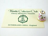 Thimble Collectors Club Sutherland Cherry Blossom Thimble with Collector Card