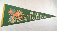 1968  = DETROIT TIGERS PENNANT FLAG VINTAGE ORIGINAL- SOCK IT TO,EM = GREEN