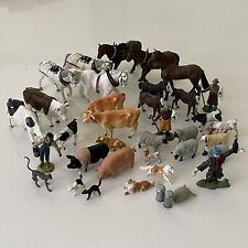 More details for vintage britains farm animals figures horses cattle bull sheep [lym]