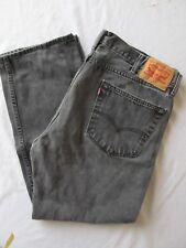 Levi's 505 Men's Jeans Black Faded 100% Cotton Tag Size 40x30 (Actual 39x28.5)