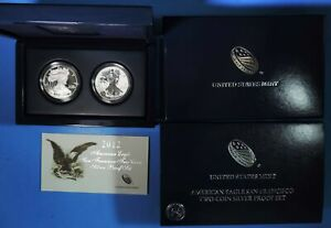 2012 2-pc American Eagle Silver San Francisco Coin Set Proof & Reverse Proof