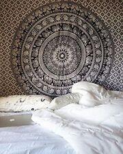 Indian Mandala Tapestry Wall Hanging Bohemian Ethnic Dorm Decor Yoga Mat Grey