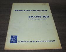 Ersatzteilliste Preisliste  Motorrad Sachs 100 Dreigang Getriebe  Nr. 324.65/4