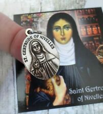 Saint Gertrude of Nivelles Cat Medal 24/7 Protection, for Collars and Necklaces.
