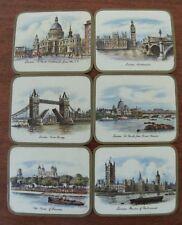 London Original box vintage coasters x6 souvenir England Regent Series Made UK