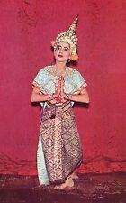 Thailand Siam Bangkok - Thai Classical Dance Dress Costume old chrome postcard