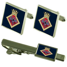 Royal Navy Falmouth Tie Clip Cufflinks Box Set