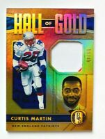 2020 Gold Standard Curtis Martin Jersey Card Hall of Gold #/49, Patriots Legend!